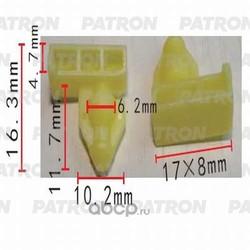 Клипса пластмассовая (PATRON) P370519