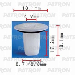 Клипса пластмассовая (PATRON) P370425
