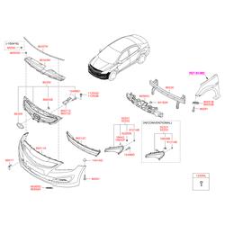 Опорная планка бампера (Hyundai-KIA) 865134L500