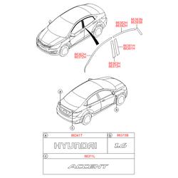 Молдинг двери (Hyundai-KIA) 863920U200