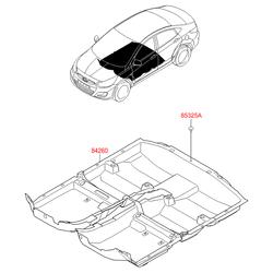 Напольное покрытие салона (Hyundai-KIA) 842604L000RY