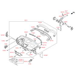 Передняя панель салона (Hyundai-KIA) 847104L600RY