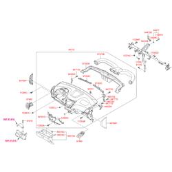 Панель центральной консоли салона (Hyundai-KIA) 847404L200RAT