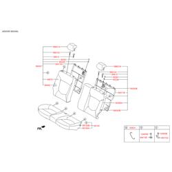 Накладка заднего сиденья (Hyundai-KIA) 893622B000RY