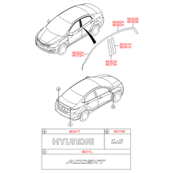 Молдинг двери (Hyundai-KIA) 863930U200