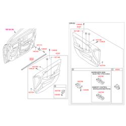 Внутренняя панель, передняя дверь правая (Hyundai-KIA) 823024L010SAR