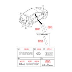 Эмблема пластик (Hyundai-KIA) 863102B500