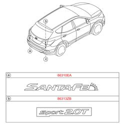 Эмблема декоративная пластиковая (Hyundai-KIA) 863102W000
