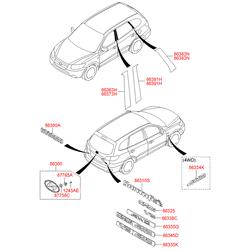 Эмблема декоративная пластиковая (Hyundai-KIA) 863302B500