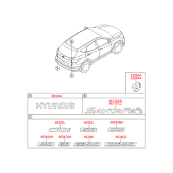 Эмблема декоративная пластиковая (Hyundai-KIA) 863222W000