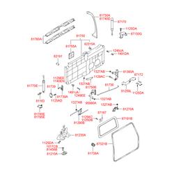 Элемент обивки багажника (Hyundai-KIA) 8175426000YD
