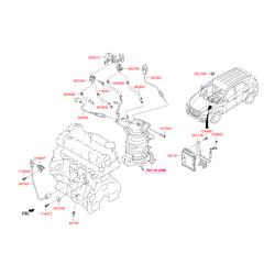 Электронный датчик перепада давления выхлопной трубы (Hyundai-KIA) 392102F600