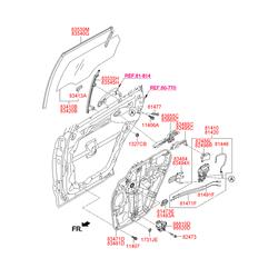 Электронный двигатель стеклоподъемника стекла двери, 60вт (Hyundai-KIA) 83460B8010