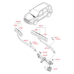 Щетка стеклоочистителя (Hyundai-KIA) 983502W000