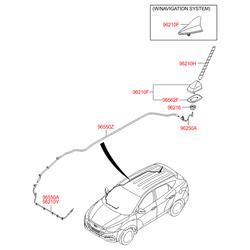 Штыревая антенна автомагнитолы (Hyundai-KIA) 962002S000