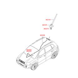 Шток антенны (Hyundai-KIA) 962632E220