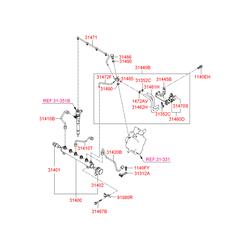 Шланг топливной системы (Hyundai-KIA) 3146227800