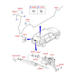 Шланг стеклоомывателя (Hyundai-KIA) 989802B000