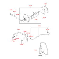 Цилиндр главный сцепления в сборе (Hyundai-KIA) 4161026000