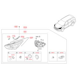 Форсунка омывателя (Hyundai-KIA) 986722W000