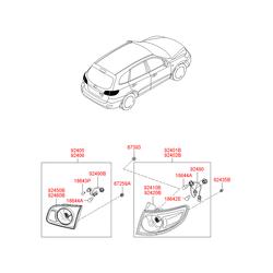 Фонарь задний (Hyundai-KIA) 924102B000