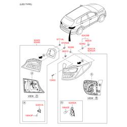 Фонарь (Hyundai-KIA) 92401B8070