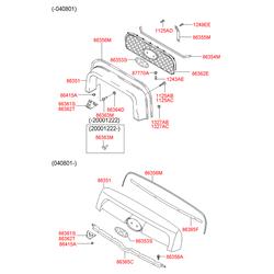 Фиксатор кожуха радиатора (Hyundai-KIA) 8636126700