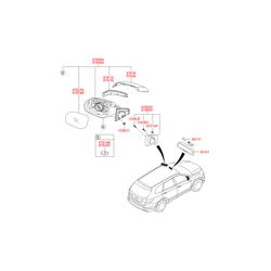 Фара указателя поворота (Hyundai-KIA) 87613B8000