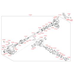 Упорное кольцо раздаточной коробки (Hyundai-KIA) 4738539200