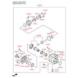 Упорное кольцо раздаточной коробки (Hyundai-KIA) 473263B160