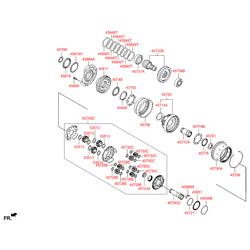 Упорное кольцо КПП (Hyundai-KIA) 458673B195