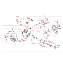 Уплотняющее кольцо, ступенчатая коробка передач (Hyundai-KIA) 4735139000