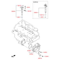 Уплотнительное кольцо топливной форсунки (Hyundai-KIA) 338172F600