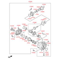 Уплотнительное кольцо КПП (Hyundai-KIA) 473763B800