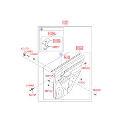 Уплотнитель внутренней панели двери (Hyundai-KIA) 832312B000