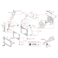 Трубка радиатора (Hyundai-KIA) 977612W001