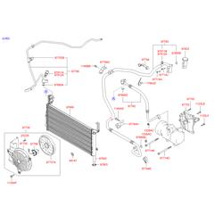 Трубка кондиционера пластик (Hyundai-KIA) 9776226100