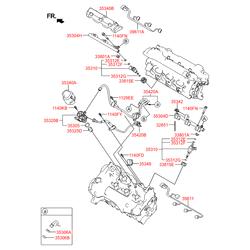 Топливная форсунка (Hyundai-KIA) 353103C550