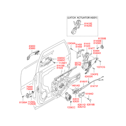 Табличка замка двери с технической информацией (Hyundai-KIA) 8141934000