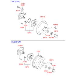 Ступица колеса (Hyundai-KIA) 5275026000