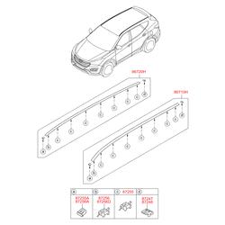Стоп-сигнал со спойлером (Hyundai-KIA) 872102W000