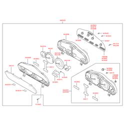 Стекло щитка приборов (Hyundai-KIA) 9436026060