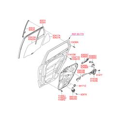 Стекло двери (Hyundai-KIA) 834272B020