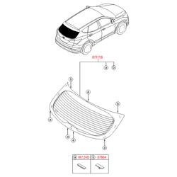 Стекло багажной двери с электрическим обогревом (Hyundai-KIA) 871102W010