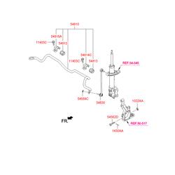 Стабилизатор (Hyundai-KIA) 548102W000