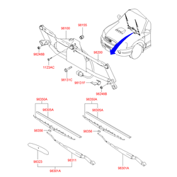 Спойлер (Hyundai-KIA) 9831129000