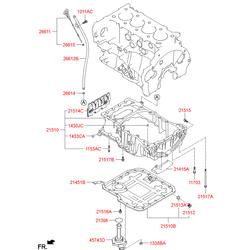 Сальник коленвала задний с корпусом (Hyundai-KIA) 214402F600