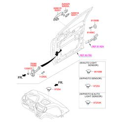Ручка двери пластмассовая (Hyundai-KIA) 826512W010