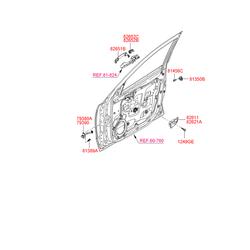 Ручка двери пластмассовая (Hyundai-KIA) 826512B010