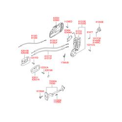 Ручка двери пластмассовая (Hyundai-KIA) 8266026000